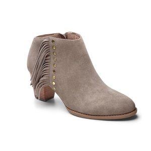 VIONIC Upright Faros Suede Heel Boots Tan 7.5